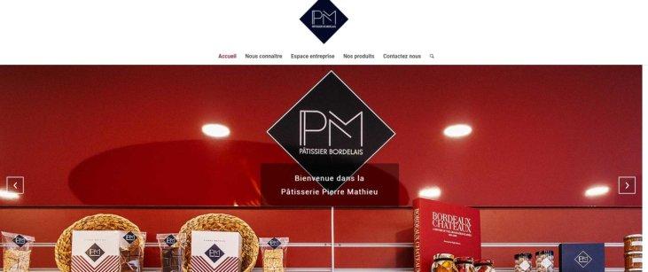 site de PM Pâtissier Bordelais